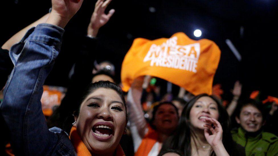 Mesa supporters in La Paz, Bolivia, October 20