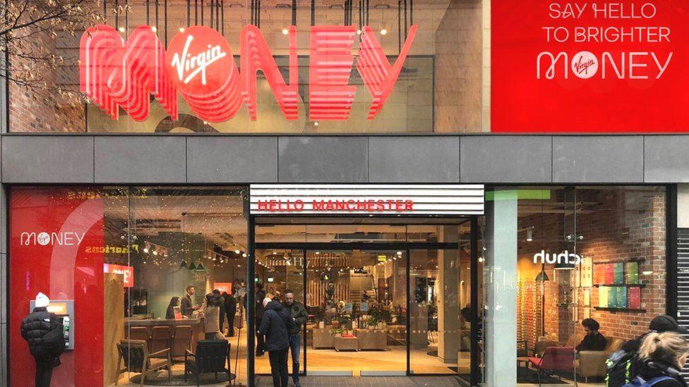 Rebranded Virgin Money store