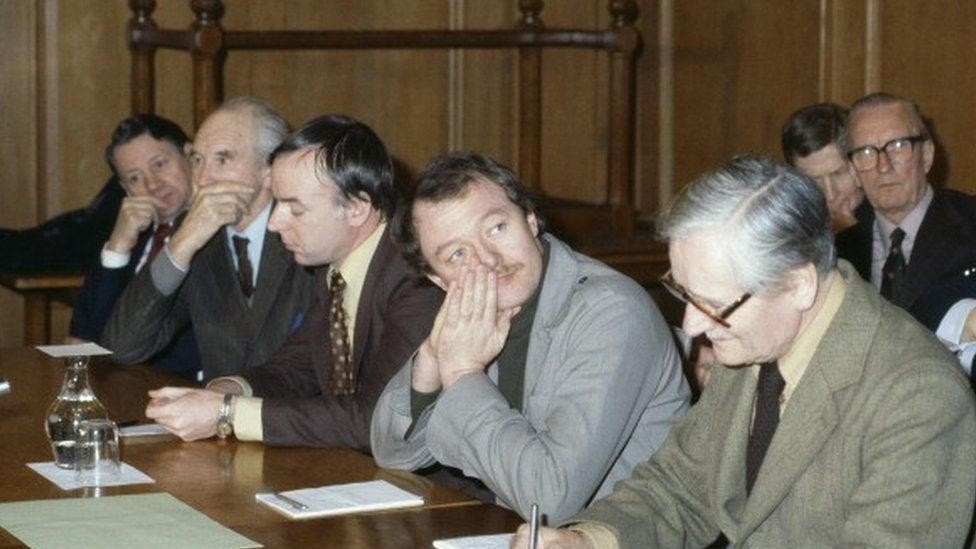 Ken Livingstone at a meeting of the GLC in 1981, shortly before he became leader