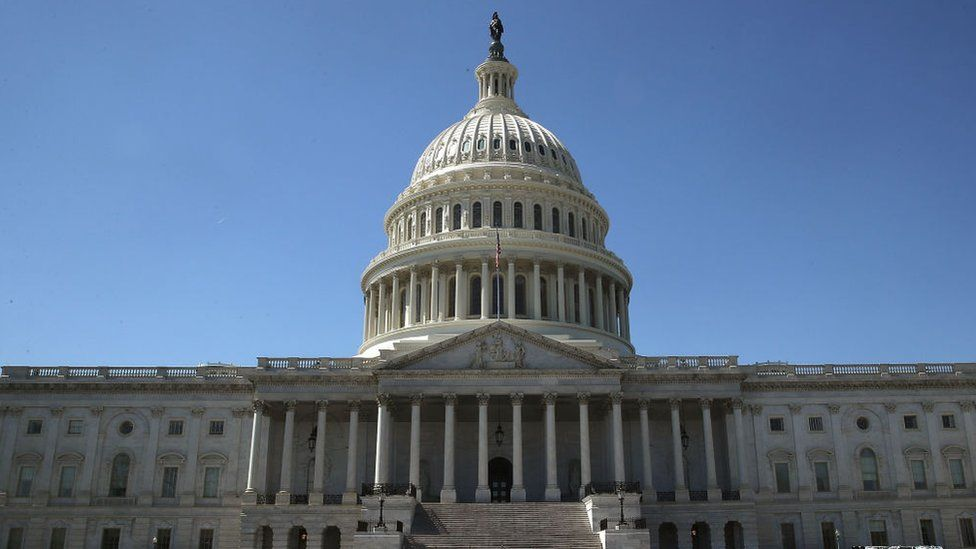 The US Capitol.