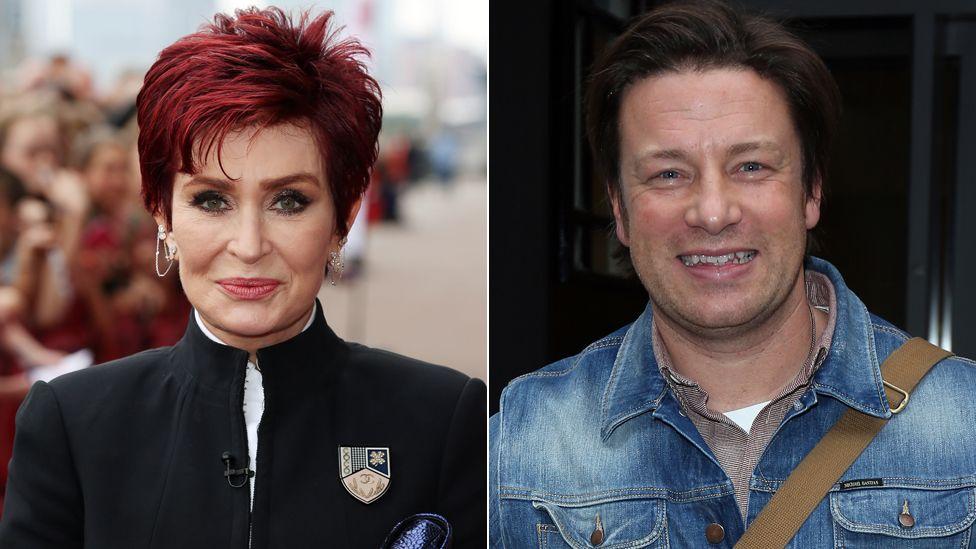 Sharon Osbourne and Jamie Oliver