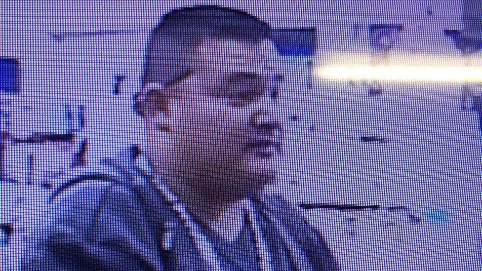 Gustavo Perez Arriaga, caught by a surveillance camera