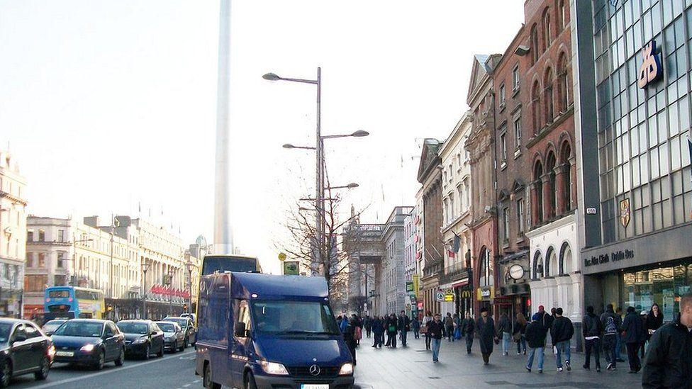 O'Connell Street in Dublin city centre