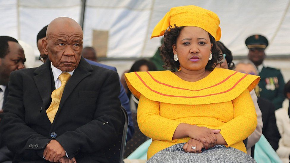 First lady Maesaiah Thabane and prime minister Thomas Thabane