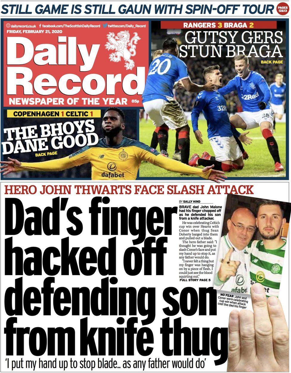 Daily Record front page
