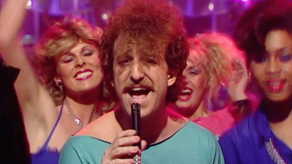 Matthew Wilder performs on Top of the Pops in 1984