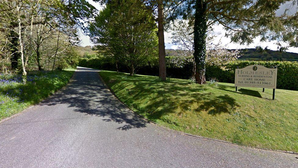 Holmesley Care Home entrance