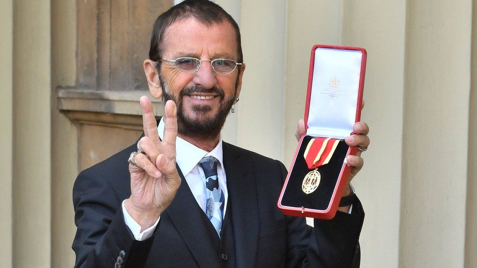 Ringo Starr with his medal