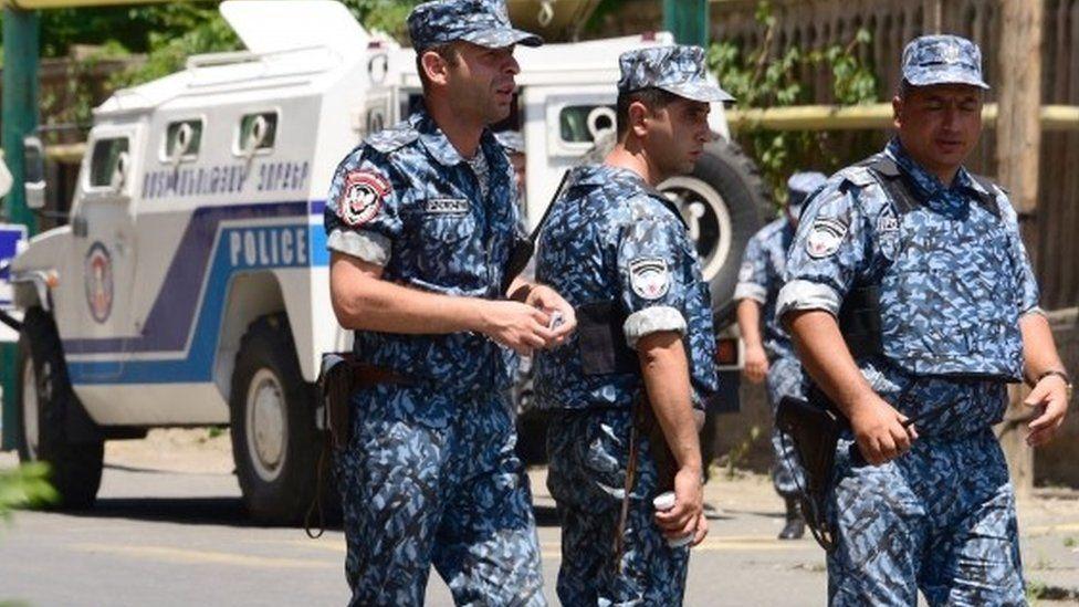Police in Yerevan