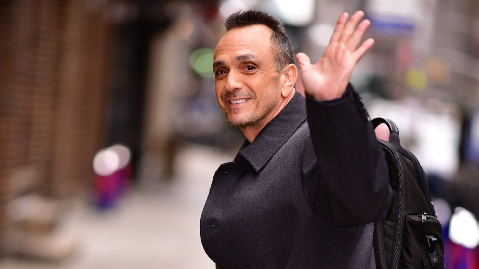 Hank Azaria arrives for The Late Show with Stephen Colbert in New York City, 2 April 2019