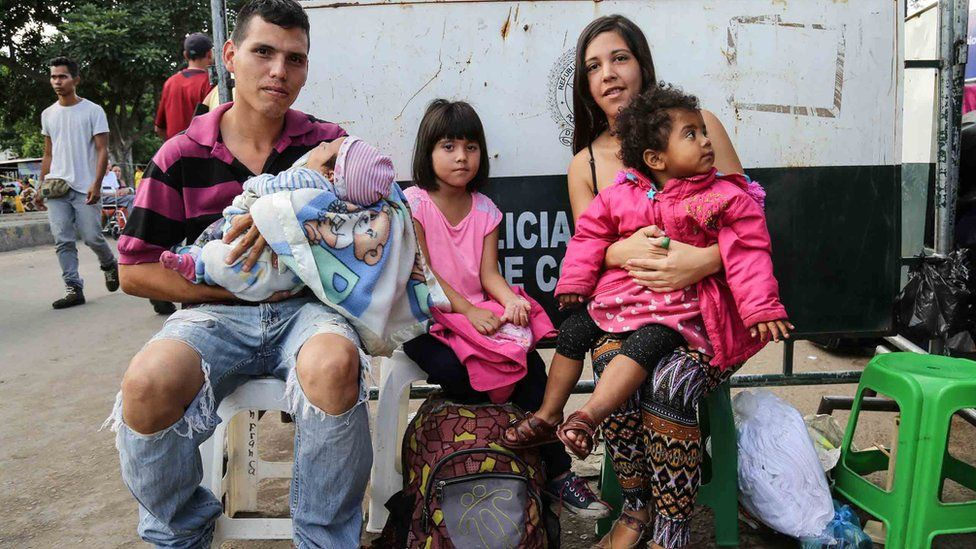 Família na fronteira