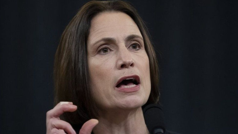 Fiona Hill testifies during the House Permanent Select Committee on Intelligence public hearing on the impeachment inquiry into US President Donald Trump, on Capitol Hill in Washington, DC, 21 November 2019.