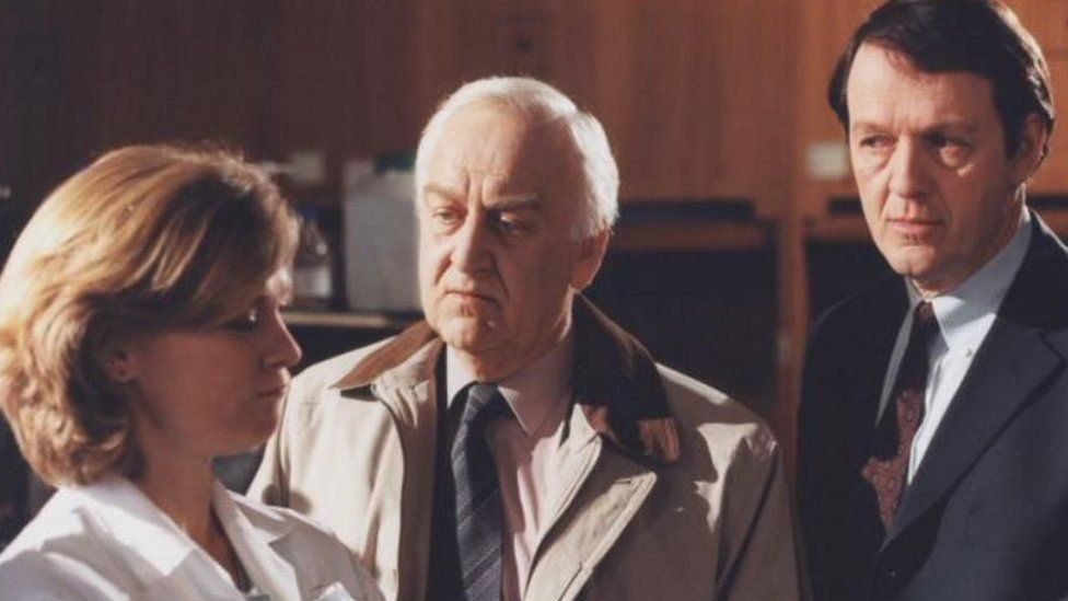 John Thaw, centre, starred as Inspector Morse