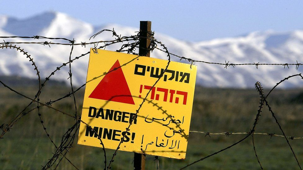 Minefield in Golan Heights