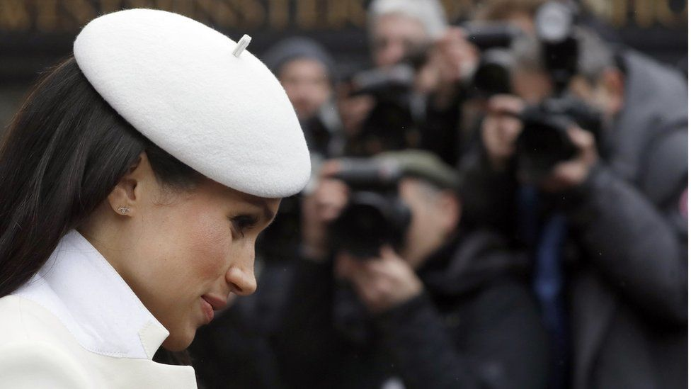 Meghan, pictured at a Commonwealth Day service at Westminster Abbey on March 12 2018.