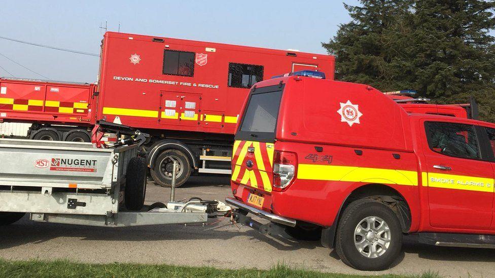 fire engines on scene