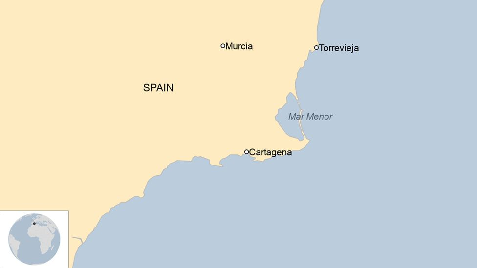 A map showing Mar Menor