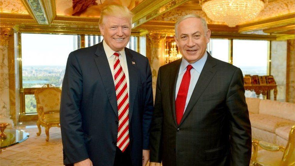 Donald Trump and Benjamin Netanyahu (Sept 2016)
