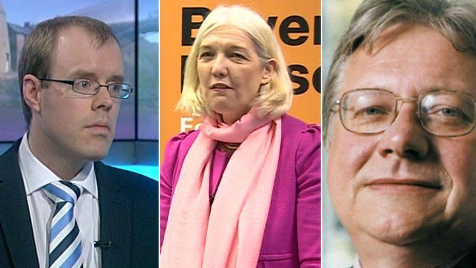 From left James Burn; Beverley Nielsen and Graham Stevenson
