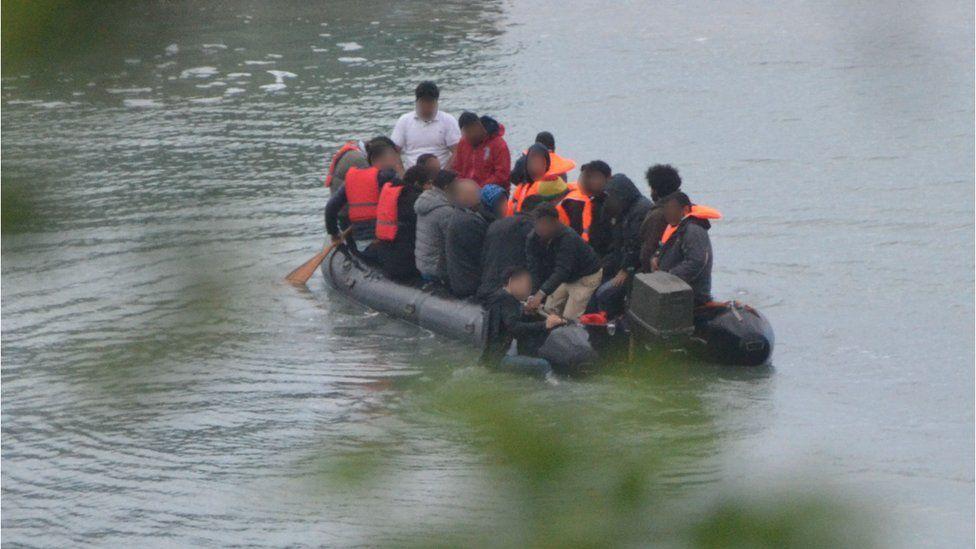 Channel migrants: Two boats intercepted off Kent coast