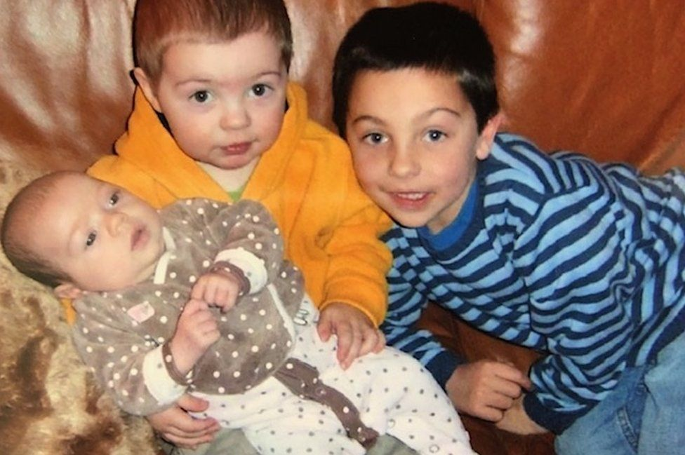 Catherine's three children at home where her daughter Poppy was born