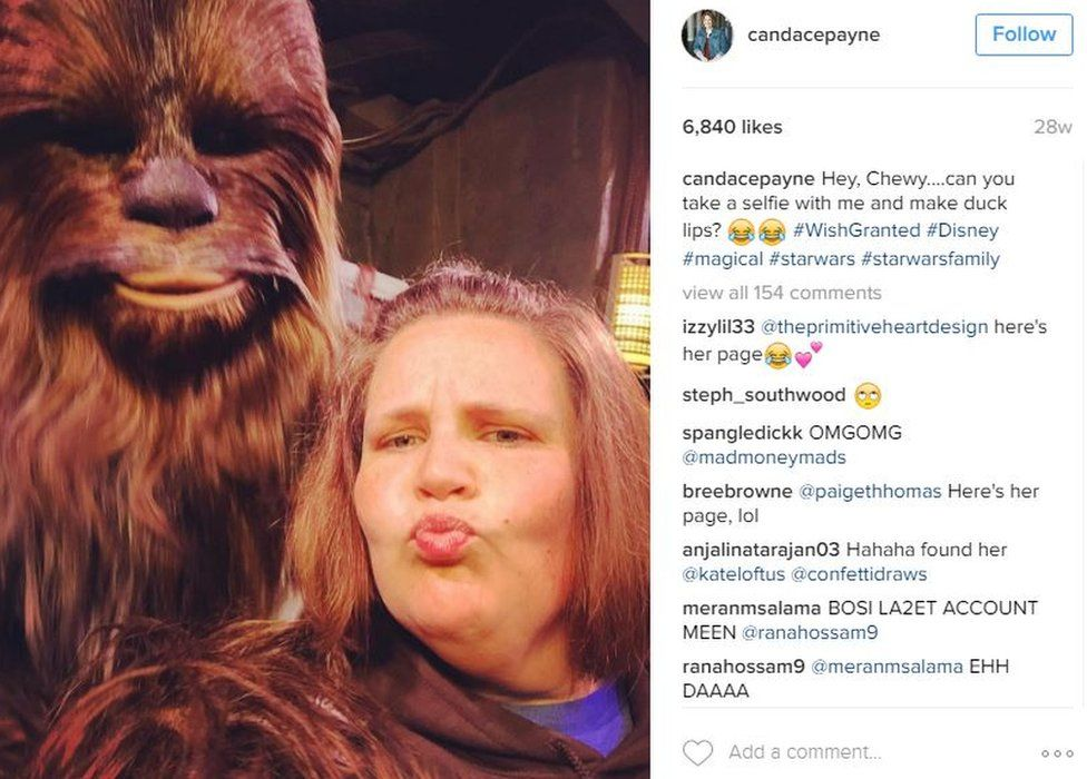 Candace Payne and Chewy