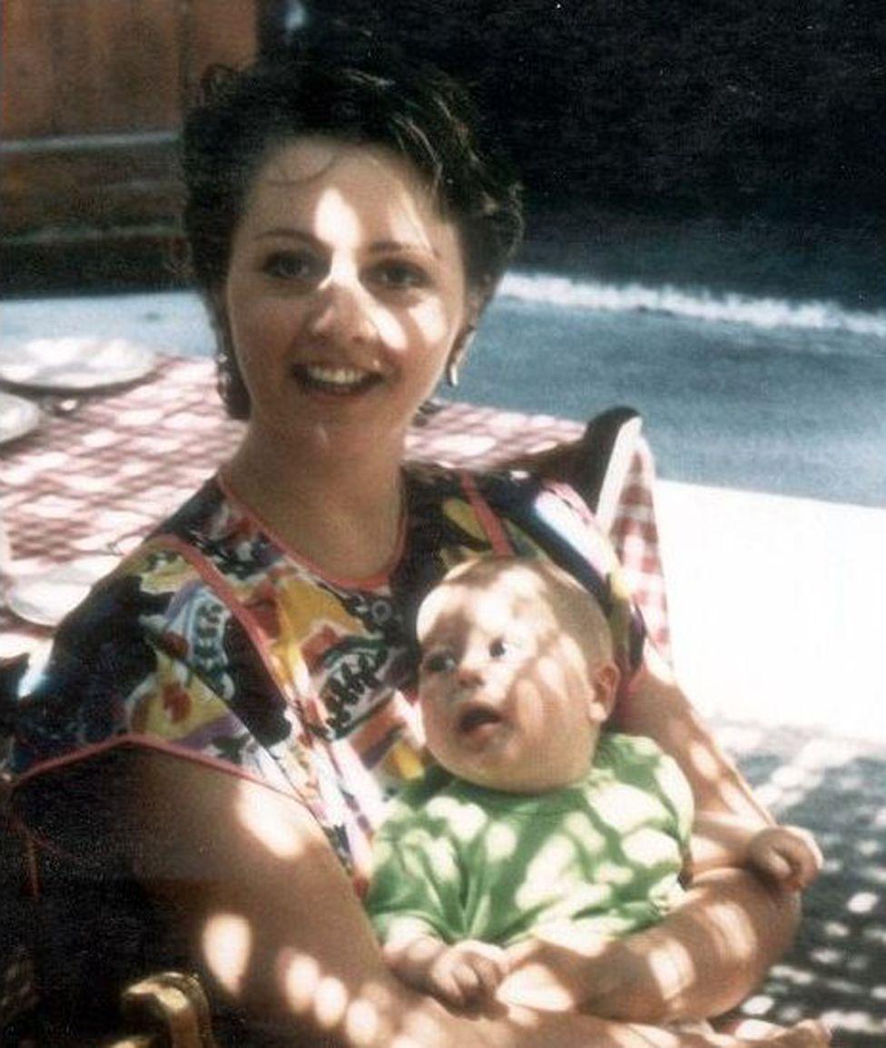 Anne Diamond and her son Sebastian
