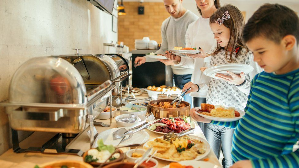 Hotels have mostly stopped serving buffets