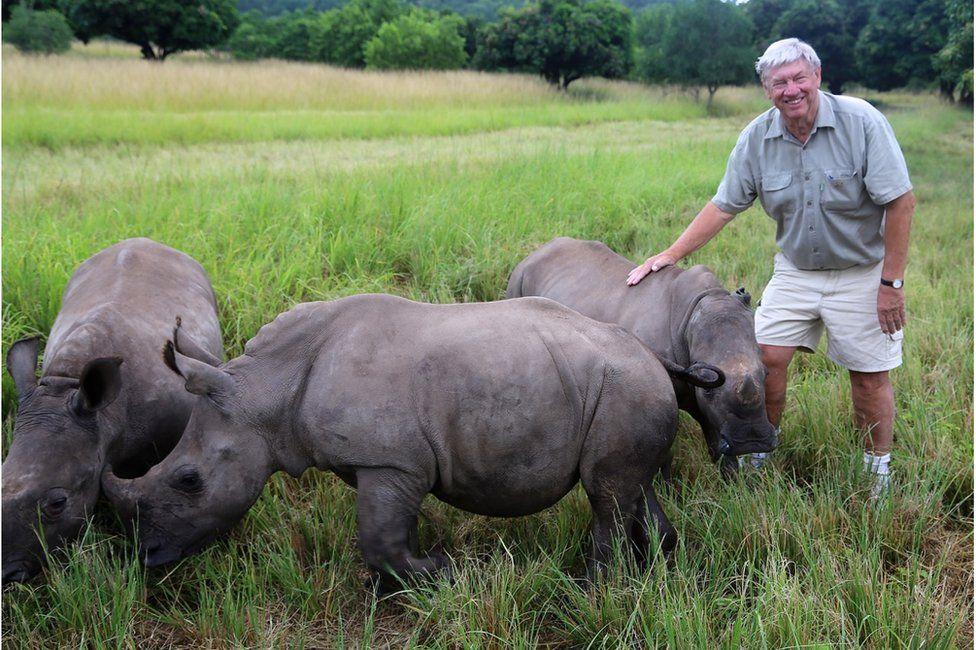 Ray Dearlove with some rhinos