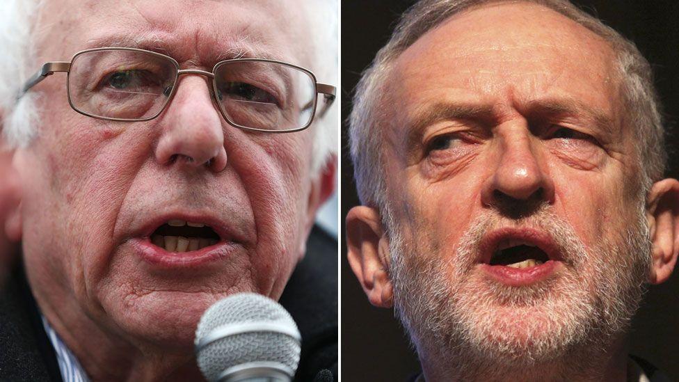 Bernie Sanders and Jeremy Corbyn