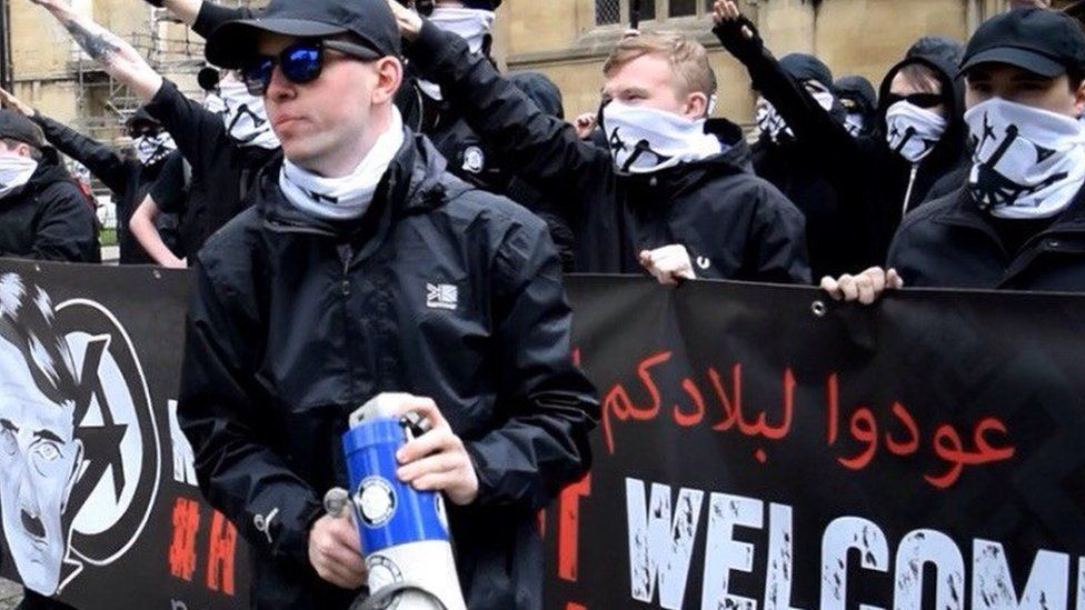 Jack Coulson at National Action demonstration