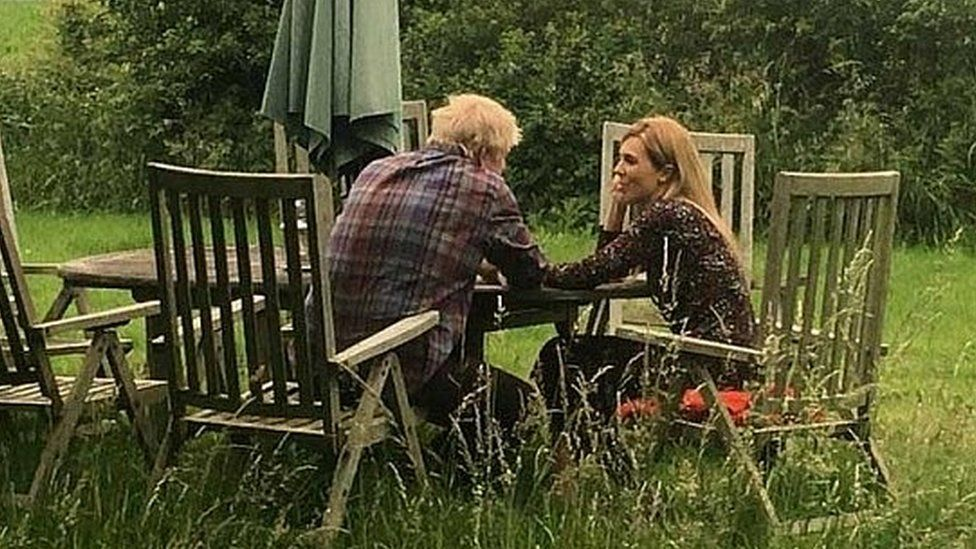 Picture of Boris Johnson and Carrie Symonds first published by the Mail on Sunday, the date and details of which have not been confirmed