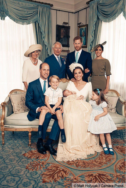 Duchess of Cornwall, Prince Charles, Prince Harry, Meghan Markles, Prince William, Prince George, Prince Louis, Duchess of Cambridge and Princess Charlotte