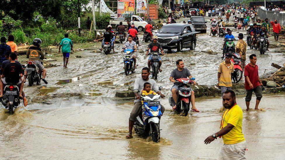 Flood waters in Sentani