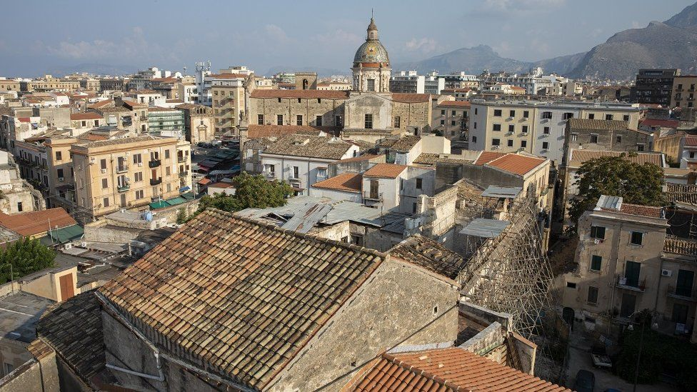 View of Palermo rooftops