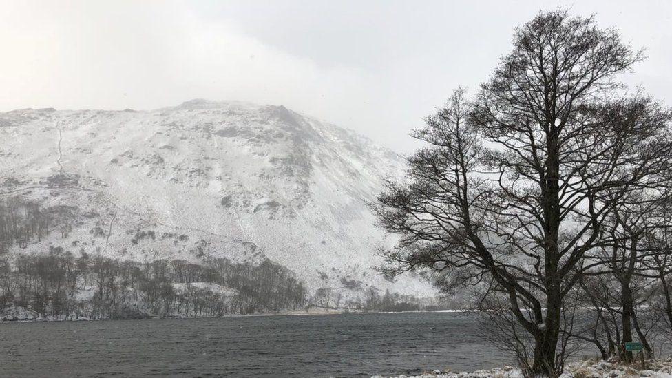 Snow over Snowdonia