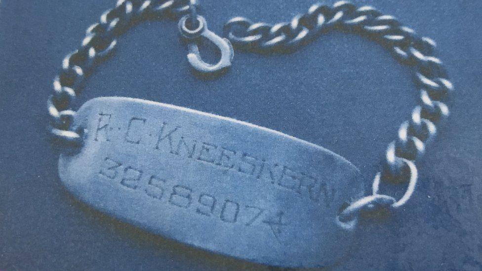American soldier's identity bracelet