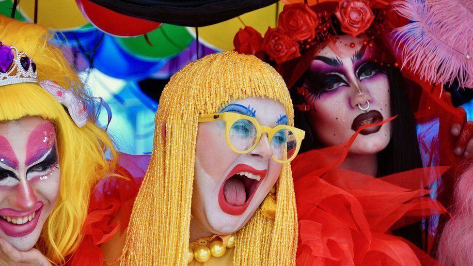 Drag artists at Birmingham Pride