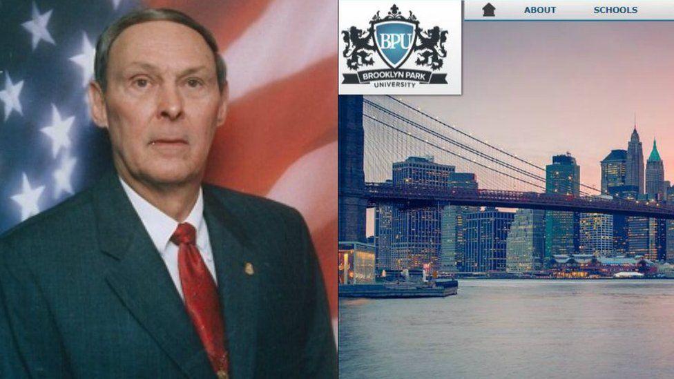 Former FBI officer Allen Ezell has written a book about fake diploma mills like Brooklyn Park University