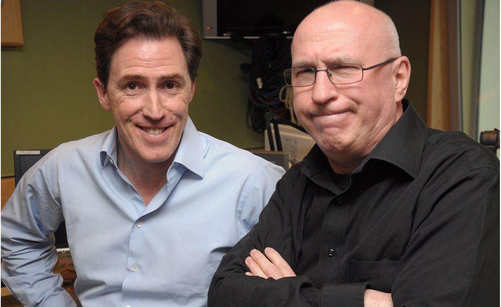 Rob Brydon and Ken Bruce