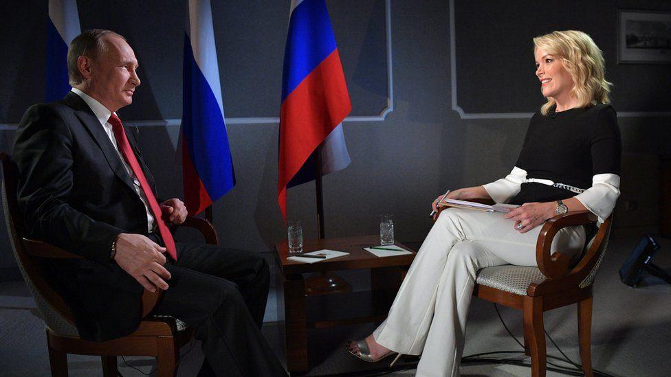 Vlamidir Putin and Megyn Kelly during interview