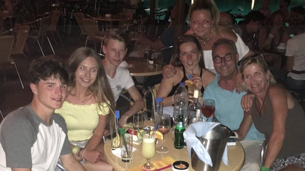 Georgie Jamieson and her family hours before the quake struck