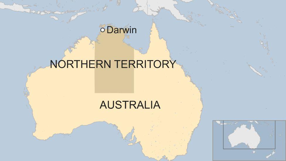 Map of Darwin