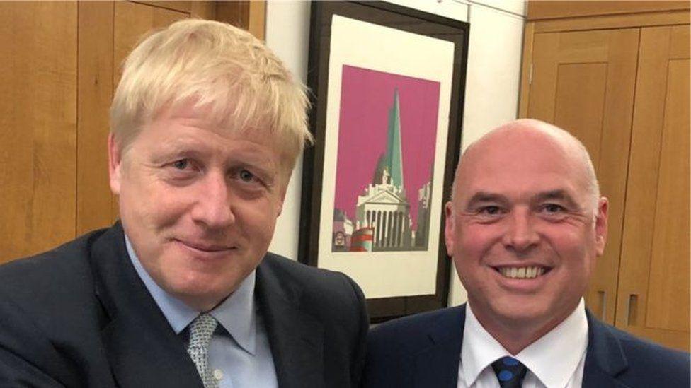 Boris Johnson a Paul Davies
