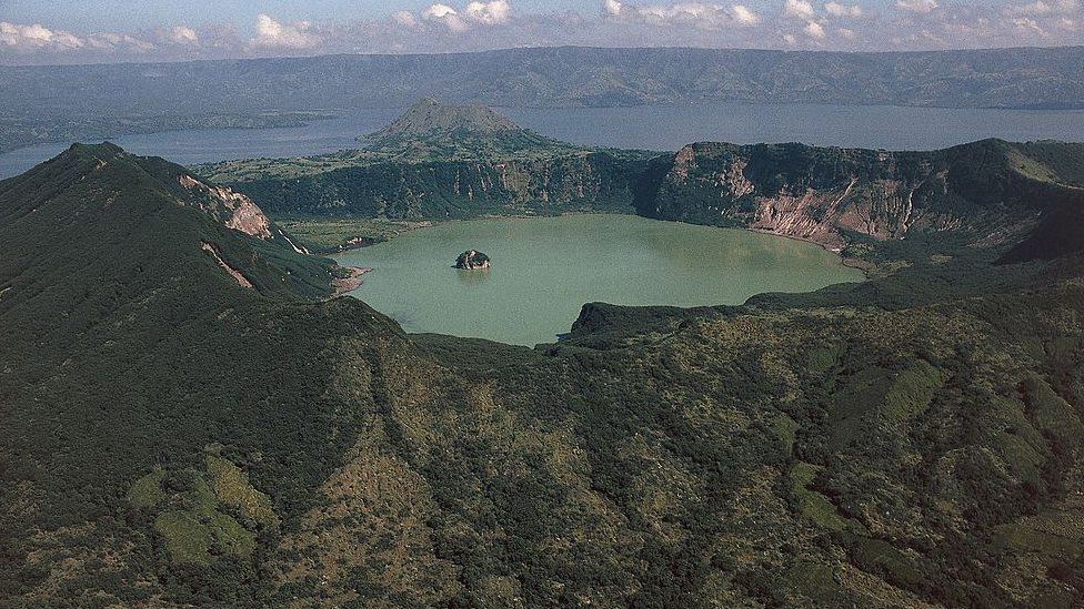Crater lake of Taal Volcano