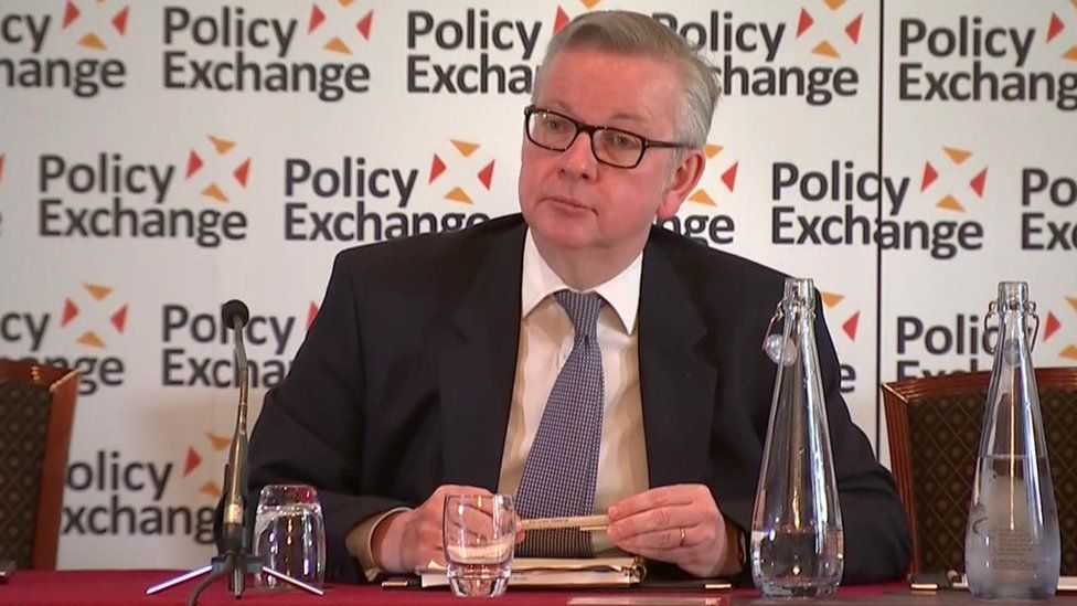 Michael Gove speaking in London