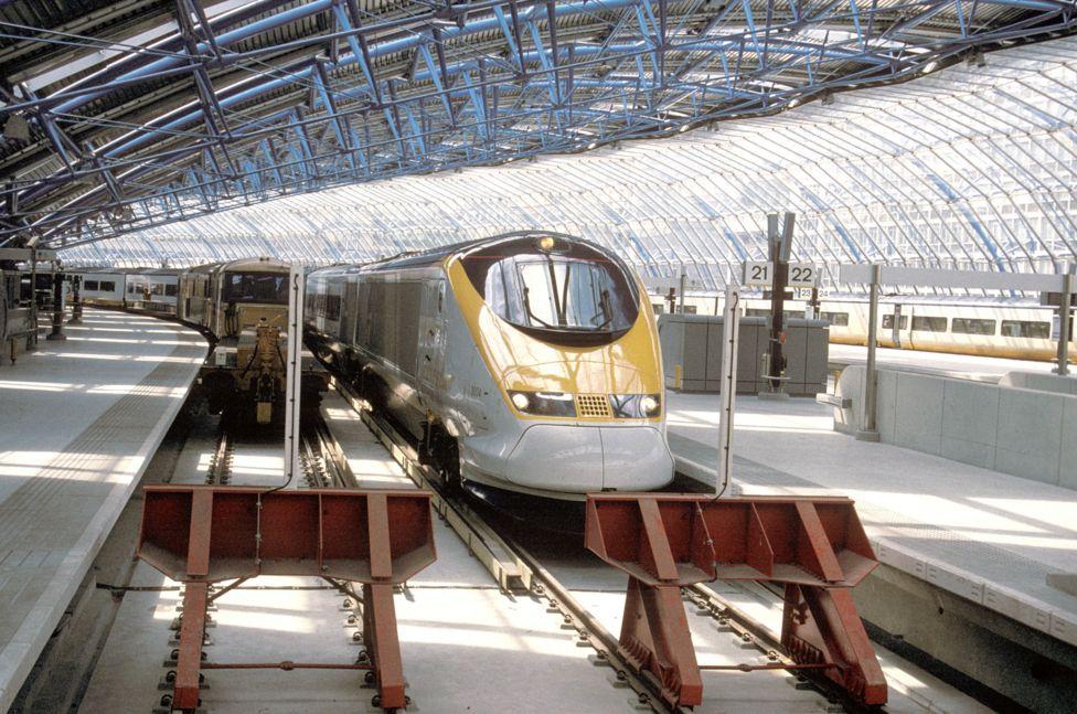 1994年刚建成的滑铁卢欧洲之星车站