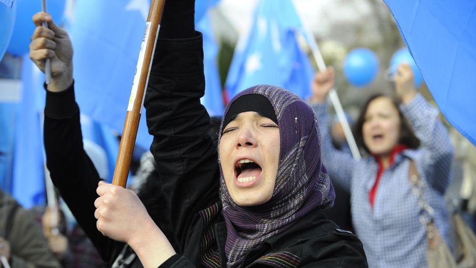 Uighur protesters in Melbourne