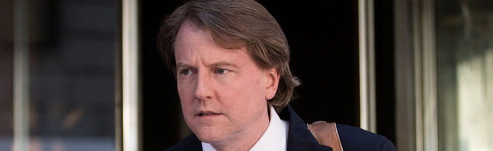 Don McGahn, lawyer and Trump advisor, pictured on the street in New York