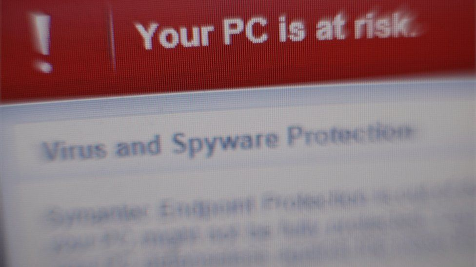 Your PC is at risk screen